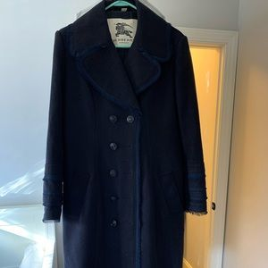 Burberry vintage wool trench coat/pea coat